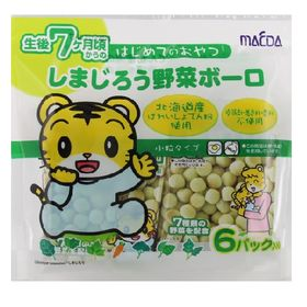 【72g×10個】大阪前田 しまじろう野菜ボーロ