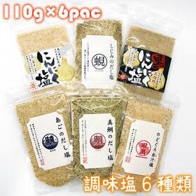 【6種類×110g 調味塩セット】お試し塩シリーズ【各種1袋...