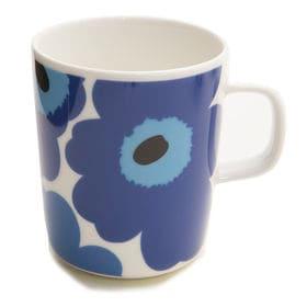ブルー[marimekko]マグカップ UNIKKO MUG