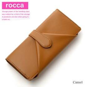【キャメル】rocca 長財布 レディース 牛革 大容量 ガ...