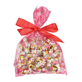 【250g入り】まねきねこチョコ 花柄ラッピングセット
