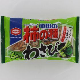 【182g×12個】亀田製菓 亀田の柿の種わさび6袋詰