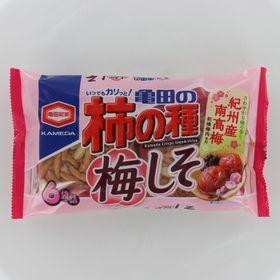 【6袋詰182g×12個】亀田製菓 亀田の柿の種梅しそ