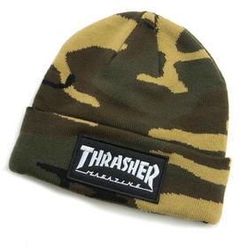 [THRASHER]ニット帽 LOGO PATCH BEAN...