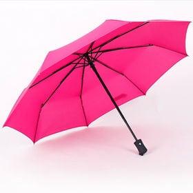 【ピンク】折りたたみ傘 自動開閉 男女兼用 日傘 雨傘 晴雨...