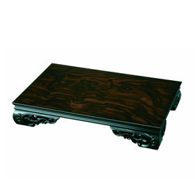 木製花台 飾り台 みやび 黒檀調 20号 60cm