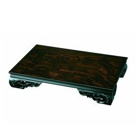 木製花台 飾り台 みやび 黒檀調 25号 75cm