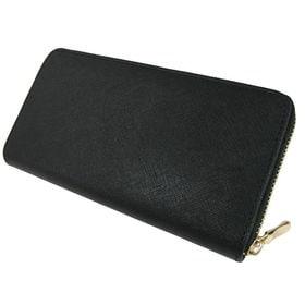 牛革製 ラウンド長財布 型押し