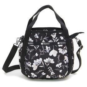 ブラック[LeSportsac]ハンドバッグ SMALL JENNI | ころんと丸みを帯びたルックスが可愛らしい!ハンドバッグとしても◎