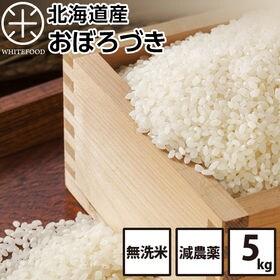 【5kg】北海道産 おぼろづき 無洗米 減農薬米 お米