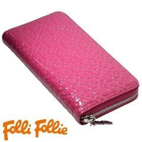 Folli Follie ラウンドファスナー長財布 ピンク