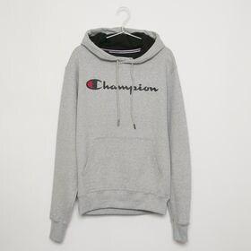 Lサイズ [Champion] メンズ パーカー グレー P...