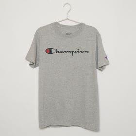 Mサイズ [Champion] メンズ Tシャツ グレー C...