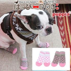 【ピンク/M】犬靴 靴 靴下 滑り止め ドット柄