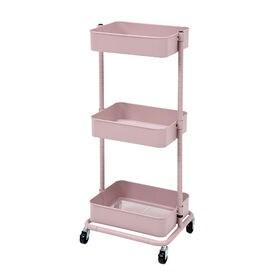 【ピンク】マルチに使えるトローリーワゴン