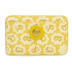 イエロー[CathKidston]パスケース CARD HOLDER PVC | スリムでかさばらないデザインがお気に入り!定期券やICカードの持ち歩きに◎