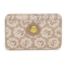 グレージュ[CathKidston]パスケース CARD HOLDER PVC | スリムでかさばらないデザインがお気に入り!定期券やICカードの持ち歩きに◎
