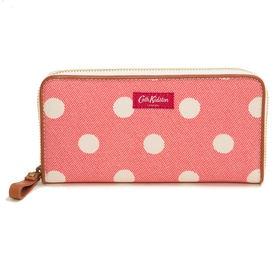 ピンク[CathKidston]長財布 CONTINENTAL ZIP WALLET | 汚れても安心な素材で大人から子供までお使いいただける優秀アイテム!
