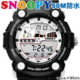 50M防水【スヌーピー デジタル表示 ユニセックス 腕時計】...