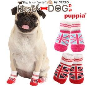 【ピンク/L】犬靴 靴 靴下 滑り止め ユニオンジャック