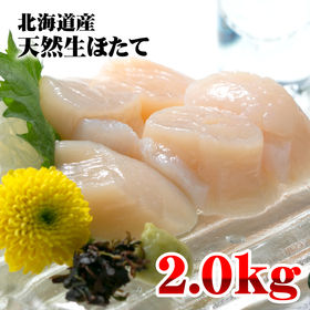 【2kg(1kg×2パック)】北海道産 天然ホタテ貝柱