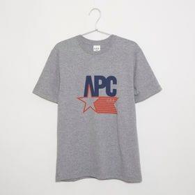 XSサイズ[A.P.C.]メンズ Tシャツ CORNELIUS T-SHIRT(グレー) | 全てアメリカ製にこだわったU.S.コレクション!アメリカンなロゴが可愛らしい♪