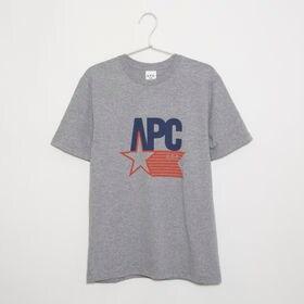 Mサイズ[A.P.C.]メンズ Tシャツ CORNELIUS T-SHIRT(グレー) | 全てアメリカ製にこだわったU.S.コレクション!アメリカンなロゴが可愛らしい♪