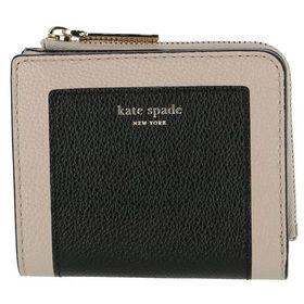 【KATE SPADE】二つ折り財布/【BLACK/TAUP...