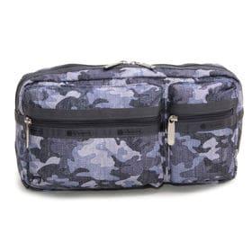 [LeSportsac]ベルトバッグ FRANKIE BELT BAG(グレー×ネイビー) | スクエアフォルムで見た目以上の収納力!ポケットで小物もすっきり持ち運べます♪