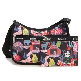 [LeSportsac]ショルダーバッグ ブラック×マルチ CLASSIC HOBO | レスポ定番のショルダーバッグ!自分好みのプリントを見つけよう♪