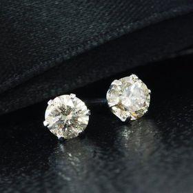 天然ダイヤモンド計0.4ctプラチナピアス【鑑別書付】GE