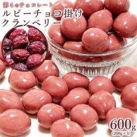 【600g(200g×3個)】 ルビーチョコ掛けクランベリー