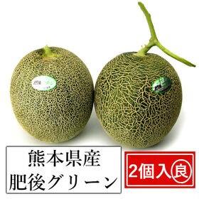 【2個入】熊本産 肥後グリ-ンメロン(良品)