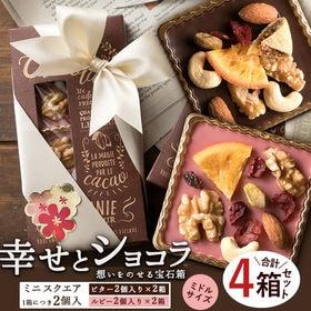 【2個入×4箱】幸せとショコラ (中) スクエア型 ハイビタ...