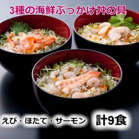 【計9食(100g×9p)】3種の海鮮ぶっかけ丼の具