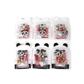 【6コ・パンダ&白くま柄】ミニジップバッグ お菓子詰めセット...