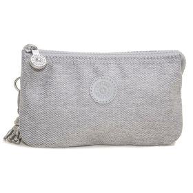 [Kipling]ポーチ CREATIVITY L (グレー) | 3つに分かれたポケットで細かいものもすっきり持ち運べます♪