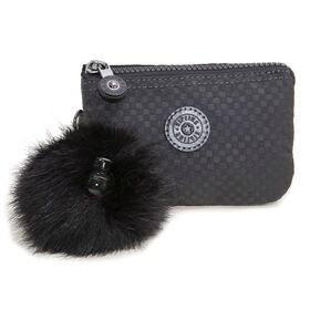 [Kipling]ポーチ CREATIVITY S (ブラック) | 3つに分かれたポケットで細かいものもすっきり持ち運べます♪