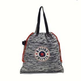 [Kipling]トートバッグ NEW HIPHURRAY L FOLD (ネイビー) | 小さく折りたたんでコンパクトに持ち運べる優秀アイテム♪エコバッグにも◎