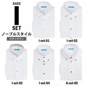 【Iset-ノーブルスタイル/S(37)】ワイシャツ半袖 5...