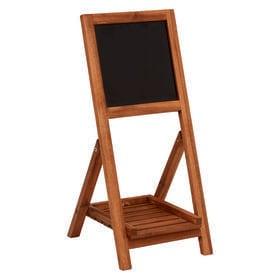 【1段】黒板付きの折りたたみ式木製スタンド