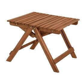 アカシア材を使用した折りたたみテーブル