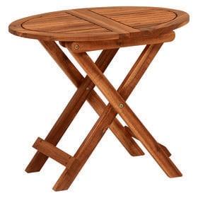 コンパクトに折りたたむことができる木製サイドテーブル