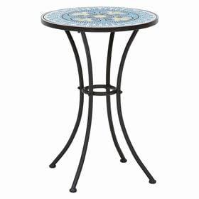 【ブルー】モザイク柄ガーデンテーブル