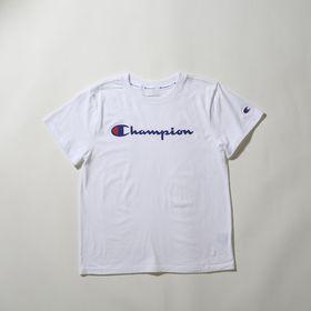 【Lサイズ】[Champion]レディース CLASSIC TEE ホワイト | 一枚は持っておきたい定番アイテム!合わせやすいシンプルなデザインがお気に入り♪