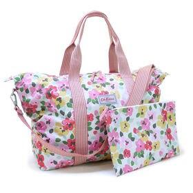 [CathKidston]ボストンバッグ ピンク FOLDAWAY OVERNIGHT BAG | 旅行やジムバッグとして◎コンパクトに折りたたんで持ち運べるポケッタブル仕様!