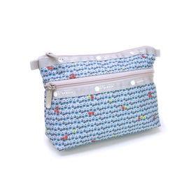 [LeSportsac]ポーチ COSMETIC CLUTCH(ブルー) | 外ポケットでメイク道具や常備薬をすっきり収納!プレゼントにも◎