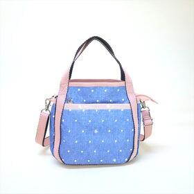 [LeSportsac]ハンドバッグ SMALL JENNI (ブルー系) | ころんと丸みを帯びたルックスが可愛らしい!ハンドバッグとしても◎