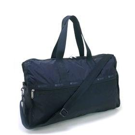[LeSportsac]ボストンバッグ DELUXE LG WEEKENDER ブラック | 旅行には欠かせないボストンバッグ!キャリーバーに通せるポケット付きでサブバッグとしても◎