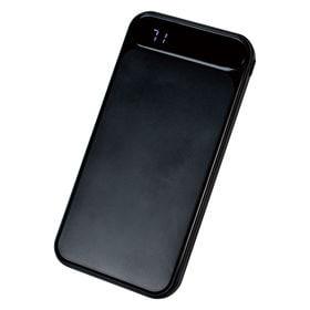 【ブラック】 モバイルバッテリー 2ポート 10000mAh...